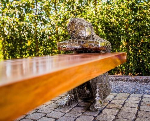 Design tafel - 5 meter salontafel teak