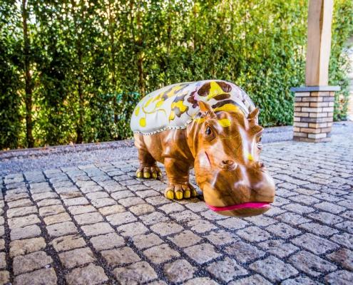 Hippo Medium - Exotisch Design stoel/zit/meubel - Handgemaakt- en beschilderd - Angels Objects
